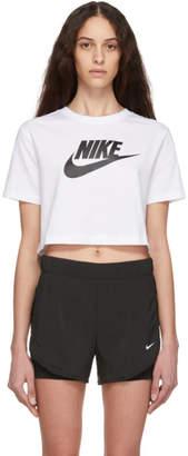 Nike White Cropped Sportswear Essential T-Shirt