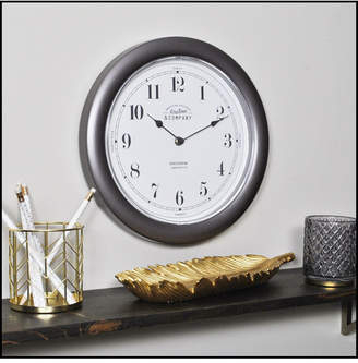"""Firstime & Co 12"""" Nickel Homestyle Wall Clock"""