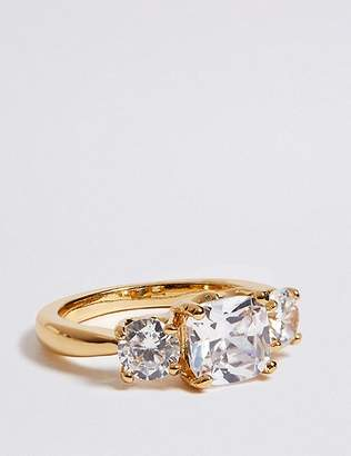 Marks and Spencer The Duchess Diamanté Three Stone Ring