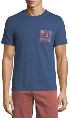 Original Penguin Men's Plaid-Flannel Pocket T-Shirt