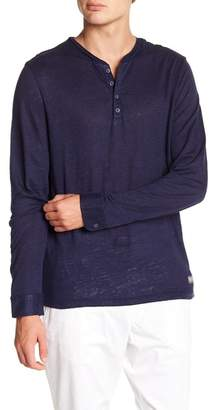Report Collection Solid Linen Henley