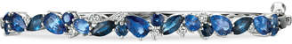 LeVian Le Vian Precious Collection Sapphire (4-1/3 ct. t.w.) and Diamond (1/4 ct. t.w.) Bangle Bracelet in 14k White Gold