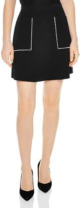 Sandro Louis Studded A-Line Mini Skirt