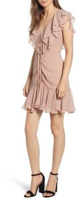 WAYF Danni Ruffle Mini Dress