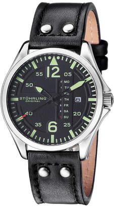 Stuhrling Original Mens Black Strap Watch-Sp15161