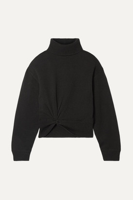 Alexander Wang Twist-front Wool Turtleneck Sweater - Black