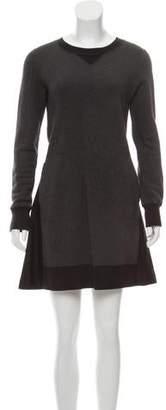 Sacai Long Sleeve Mini Dress