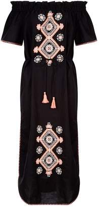 Seafolly Off-The-Shoulder Embroidered Dress