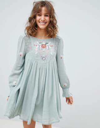 Free People mohave mini dress with embroidery