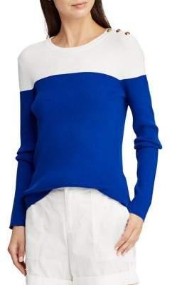 Lauren Ralph Lauren Colorblock Long-Sleeve Sweater