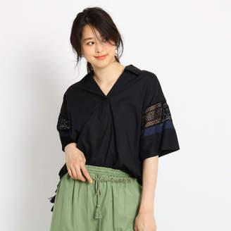 Dessin (デッサン) - Dessin(Ladies) 【洗える】インド刺しゅうレーススリーブシャツ