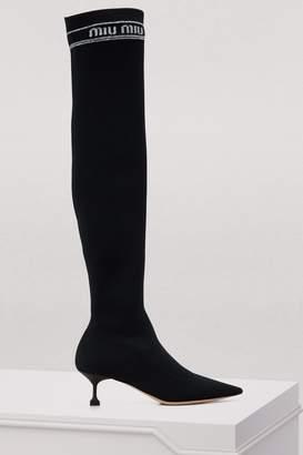 Miu Miu Miu socks Over the knee boots