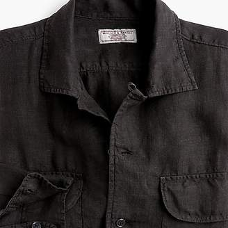 J.Crew Wallace & Barnes camp-collar shirt in black