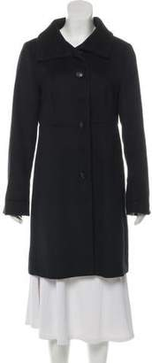 Max Mara Knee-Length Button-Up Coat