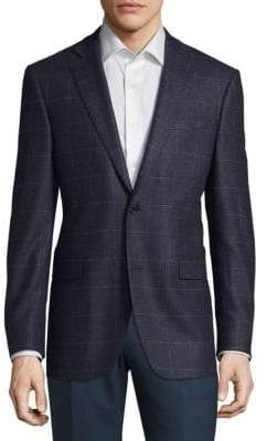 Saks Fifth Avenue Checkered Cashmere Jacket