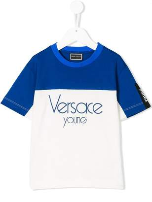 Versace colour block logo T-shirt