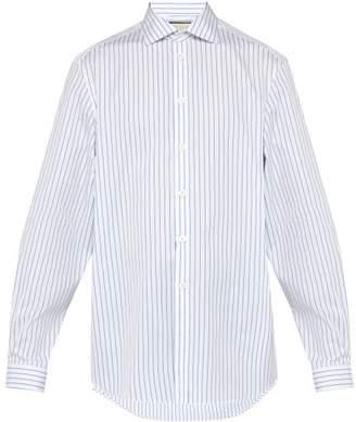 Gucci Classic Striped Shirt - Mens - Blue