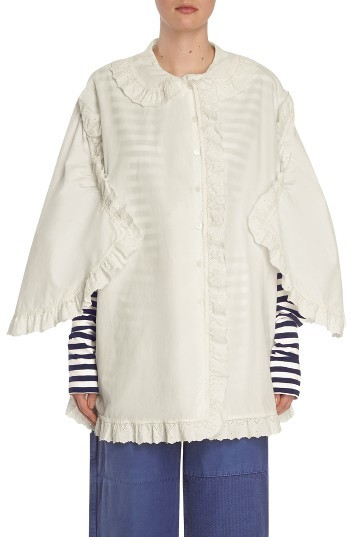 Women's Burberry Ruffle Blouse