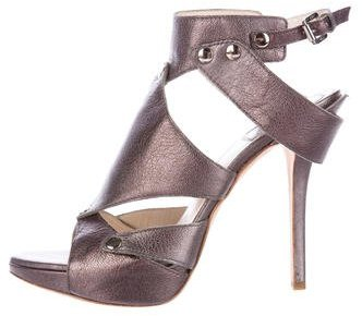 Christian Dior Metallic Platform Sandals