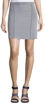 Theory Teslia Geometric-Striped Knit Skirt $265 thestylecure.com