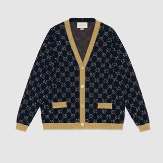 Gucci GG cotton lurex cardigan