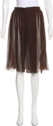 Prada Sheer Pleated Skirt