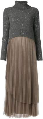 Fabiana Filippi contrast material sweater dress