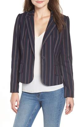 Chelsea28 Fem Stripe Crop Blazer