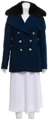 Altuzarra Fur-Trimmed Wool Coat