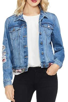 Vince Camuto Tapestry-Patchwork Denim Jacket