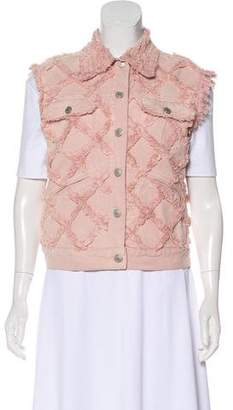 Isabel Marant Frayed Button-Up Vest