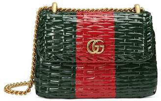 Gucci Web wicker mini shoulder bag