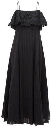 Loup Charmant Sintra Jacquard Stripe Cotton Dress - Womens - Black