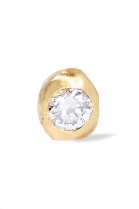WWAKE Nugget Gold Diamond Earring - one size