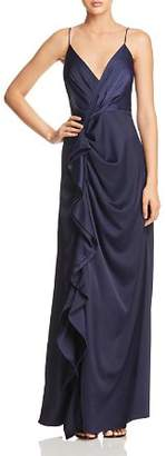 C/Meo Collective Jagged Draped Gown