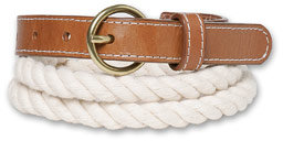 Cotton Skinny Rope Belt