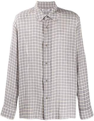 Our Legacy checked towel shirt