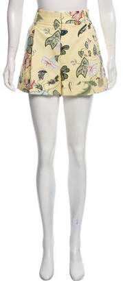 Gucci Flore Knight High-Rise Shorts