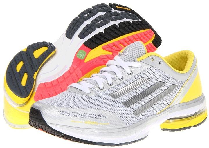 adidas adizero Aegis W (Metallic Silver/Neo Iron Metallic/Vivid Yellow) - Footwear