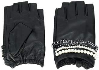 Karl Lagerfeld K/Chain fingerless gloves