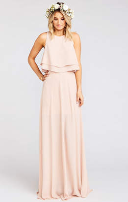 Show Me Your Mumu King Bridesmaids Crop Top ~ Dusty Blush Crisp