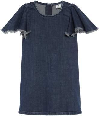 Stem Flutter Sleeve Denim Dress