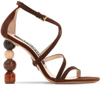 Jacquemus 90mm Rumba Suede Sandals