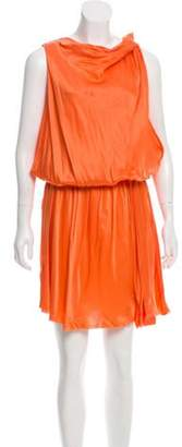 Lanvin Cinched Silk Dress w/ Tags Orange Cinched Silk Dress w/ Tags