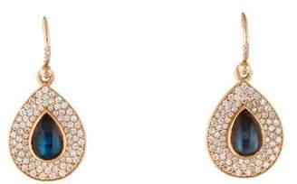 Irene Neuwirth 18K Labradorite & Diamond Peardrop Earrings