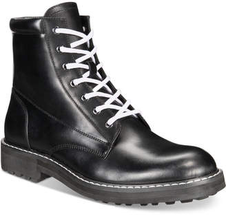 INC International Concepts I.n.c. Men's Ivan Lace-Up Boots, Created for Macy's Men's Shoes