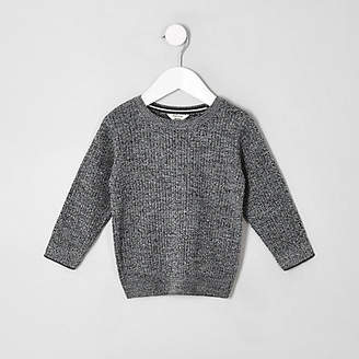 River Island Mini boys grey knitted sweater