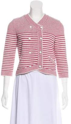 Chanel Double-Breasted Striped Cardigan