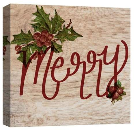Merry Decorative Canvas Wall Art 16