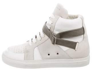 Kris Van Assche Leather High-Top Sneakers